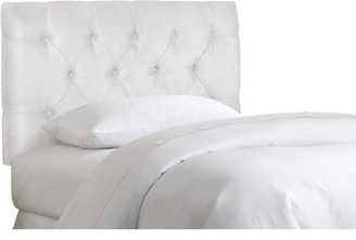 Skyline Furniture Twin Tufted Velvet Headboard, White
