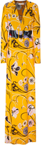 Emilio Pucci Belted Printed Crepe Maxi Dress