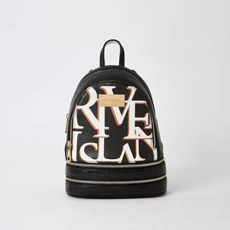 River Island Black 'River' mini backpack