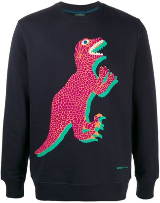 Paul Smith Organic Cotton Dinosaur Print Sweatshirt