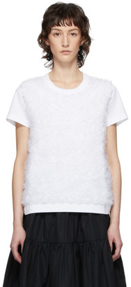 Noir Kei Ninomiya White Flower Organdy Detail T-Shirt