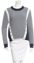 Veronica Beard Striped Crew Neck Sweater