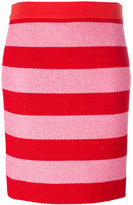 Moschino striped fitted skirt - women - Cotton/Polyamide - 44