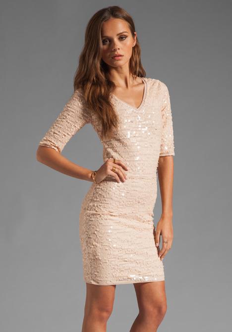 BCBGMAXAZRIA Sequin Mini Dress