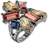 GUESS Clustered Multi Stone Ring