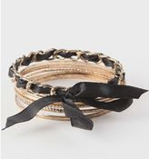 With Love From CA Chanel Ribbon Metal Bangles