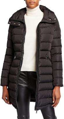Moncler Flammette High-Neck Puffer Coat