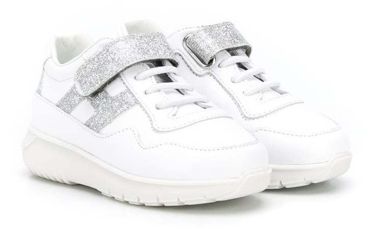 Hogan Glitter Strap Low Top Sneakers