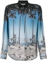 Christian Pellizzari palm tree print shirt