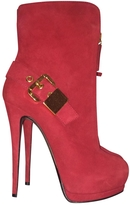 Giuseppe Zanotti Red Suede Ankle boots