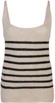 KHAITE stripped knit vest top