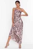 Nasty Gal Womens Wild Kinda Love Zebra Maxi Dress - pink - 4, Pink