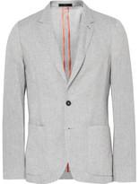 Paul Smith Grey Soho Slim-fit Slub Linen Blazer - Light gray