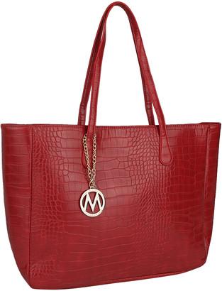 Mkf Collection By Mia K. MKF Collection by Mia K. Women's Handbags Red - Red Croc-Embossed Tote