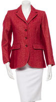 Sonia Rykiel Red Lapel Collared Jacket