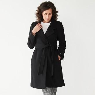 Nine West Women's Asymmetrical Wool-Blend Coat