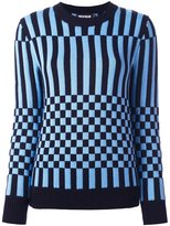 House of Holland striped checked jumper - women - Merino - S