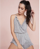 Express One Eleven Wrap Front Ruffle Romper