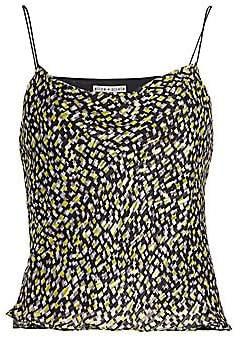 Alice + Olivia Women's Harmon Drapey Print Chiffon-Silk Slip Tank Top