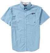 Columbia PFG Harborside Solid Short-Sleeve Woven Shirt