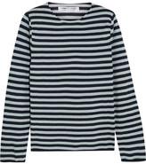 Comme des Garcons Striped Cotton-blend Sweater - Indigo