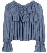 See by Chloe Cotton-blend chambray top