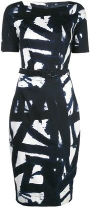 Samantha Sung Celine kline boatneck dress