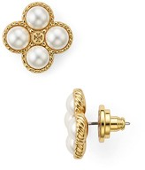 Tory Burch Rope Clover Stud Earrings