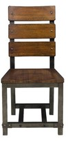 Liam Ladder Back Side Chair in Rustic Brown (Set of 2) Millwood Pines