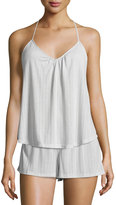 Eberjey Baxter Waffle-Knit Camisole, Oyster Gray