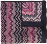Missoni chevron-knit poncho
