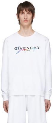 Givenchy White Paris Sweatshirt
