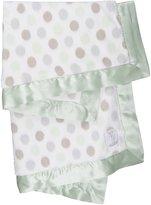 "Little Giraffe Luxe Dot Blanket, 29"" x 35"", Celadon"