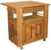 Catskill Craft Heart of the Kitchen Island Kitchen Cart With Drop Leaf