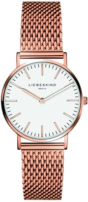 Liebeskind Berlin Womens Analogue Quartz Watch with Stainless Steel Plated Strap LT-0081-MQ