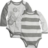 Burt's Bees Baby Spiral Bee & Stripe Bodysuit Set (Baby) - Cloud-6-9 Months