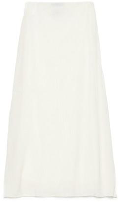 Prada Logo Patch Slip Skirt