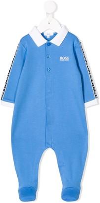 Boss Kidswear Logo Trim Footed Pajamas