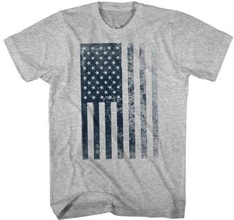 American Classics Men's Tee Shirts GRAY - Gray Heather Fade American Flag Tee - Men