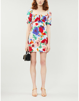 Faithfull The Brand Floral woven mini dress