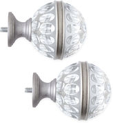 JCP HOME JCPenney HomeTM Mix & Match Set of 2 Ripple Glass Finials