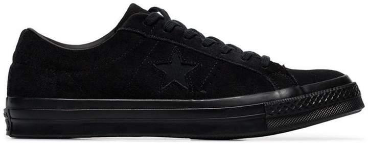 Converse black One Star suede sneakers