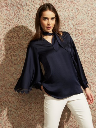 Sachin + Babi Adelaide Blouse- Midnight - Final Sale