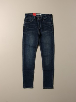 Levi's Super Skinny Jeans In Used Denim