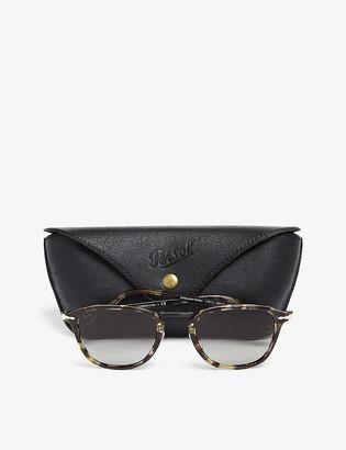Persol PO3186S Havana acetate square sunglasses