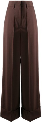 MSGM Wide-Leg Tailored Trousers