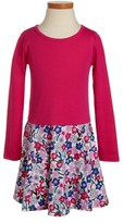 Tea Collection Girl's Floral Skirted Dress