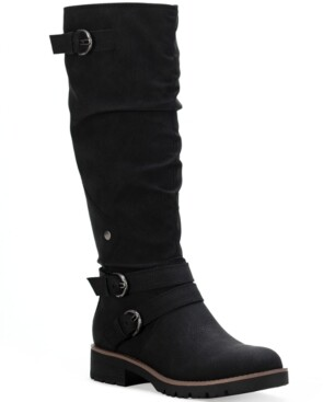 Sun + Stone Brinley Strapped Lug-Sole Boots, Created for Macy's Women's Shoes