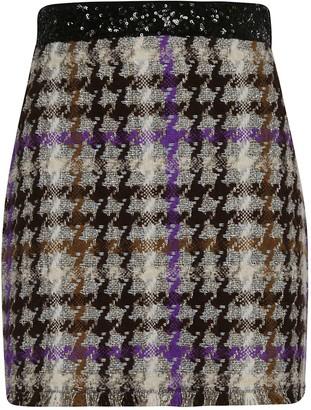 Pinko Back Zip Printed Skirt