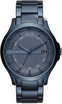 Armani Exchange A X Men's Hampton Blue-Tone Stainless Steel Bracelet Watch 46mm AX2193